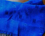 Art. 357 Black warp; blue weft