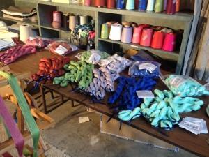 Skeins of Yarn ready for shipment to a Retailer