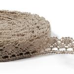 """Natural Linen Lace #4 lace width: 2.5cm (0.98"""") 100% linen $5.50 p/yd"""