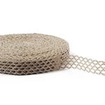"""Flax Lace #10 lace width: 2.3cm (0.9"""") 100% linen $5.75 p/yd"""