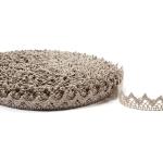 """Flax Lace #13 lace width: 2cm (0.78"""") 100% linen $6.50 p/yd"""