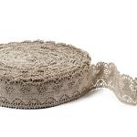 """Flax Lace #17 lace width: 4.5cm (1.77"""") 100% linen $10.95 p/yd"""