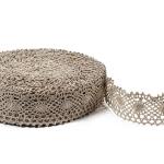 """Flax Lace #18 lace width: 4.5cm (1.77"""") 100% linen $10.95 p/yd"""