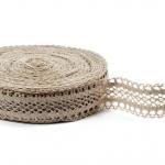 """Flax Lace #21 lace width: 4.5cm (1.77"""") 100% linen $12.95 p/yd"""