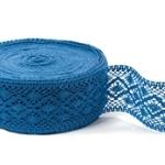 """Blue Linen Lace #24 lace width: 6cm (2.36"""") 100% linen $9.15 p/yd"""