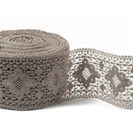 """Natural Linen Lace #27 lace width: 8.5cm (3.34"""") 100% linen $9.15 p/yd"""