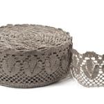 """Natural Linen Lace #28 lace width: 8cm (3.15"""") 100% linen $9.15 p/yd"""