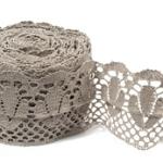 """Natural Linen Lace #30 lace width: 13cm (5.11"""") 100% linen $14.75 p/yd"""