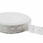 """White Linen Lace #32 lace width: 4.5cm (1.77"""") 100% linen $10.95 p/yd"""