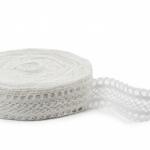 """White Linen Lace #35 lace width: 4.5cm (1.77"""") 100% linen $12.95 p/yd"""