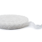"""White Linen Lace #38 lace width: 2cm (0.78"""") 100% linen $6.50 p/yd"""