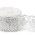 """White Linen Lace #41 lace width: 13cm (5.11"""") 100% linen $14.75 p/yd"""