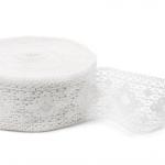 """White Linen Lace #42 lace width: 8.5cm (3.34"""") 100% linen $9.15 p/yd"""