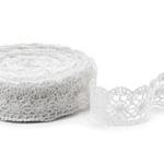 """White Linen Lace #43 lace width: 5.5cm (2.16"""") 100% linen $12.50 p/yd"""