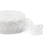 """White Linen Lace #45 lace width: 8cm (3.15"""") 100% linen $8.50 p/yd"""