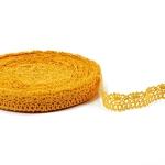 "Yellow Lace #6 lace width: 2cm (0.78"") 100% linen $6.50 p/yd"
