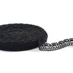 """Black Lace #7 lace width: 2cm (0.78"""") 100% linen $6.50 p/yd"""