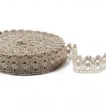 """Flax Lace #8 lace width: 3.5cm (1.37"""") 100% linen $9.45 p/yd"""